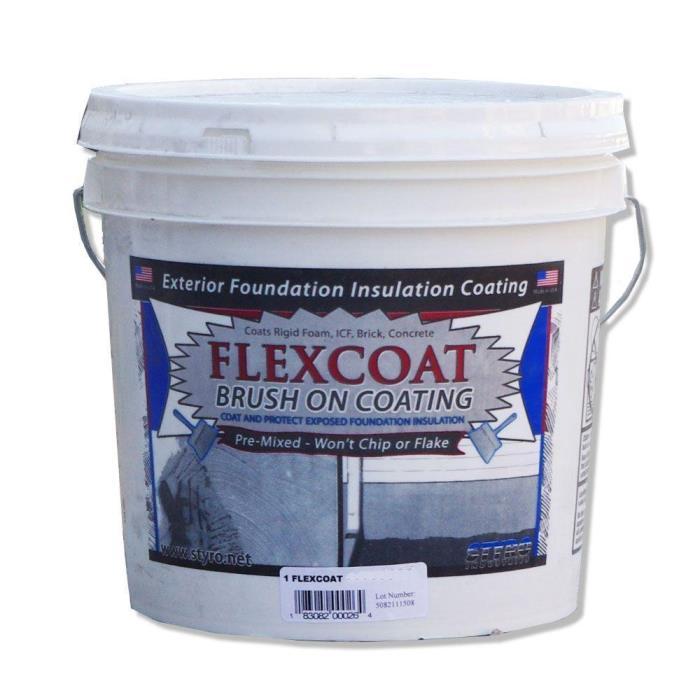 Styro White FlexCoat Brush on Foundation Coating 2 Gal. Protective Acrylic New