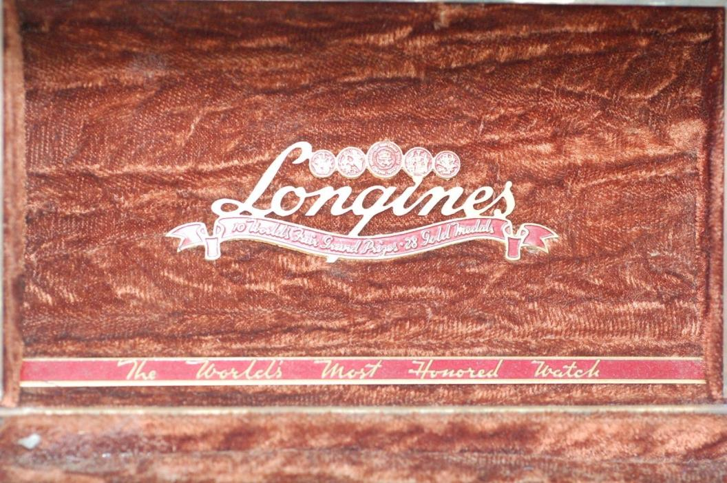 LONGINES VINTAGE METAL WATCH BOX OLD ANTIQUE