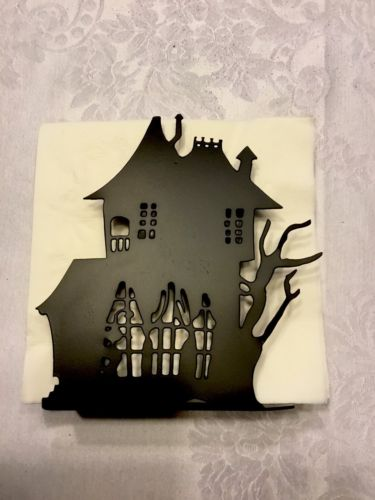 BNIB Crate & Barrel Haunted House Napkin Holder