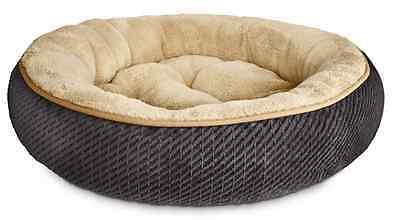 New Textured Round Cat Bed, Kitten House Pet Soft Warm Mat, Kitty Pad Cozy Nest