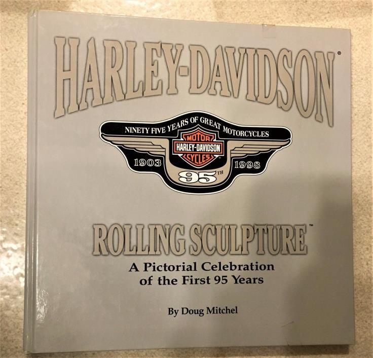 Harley Davidson Rolling Sculpture Hardcover Great Photos Knucklehead HOG Vroom