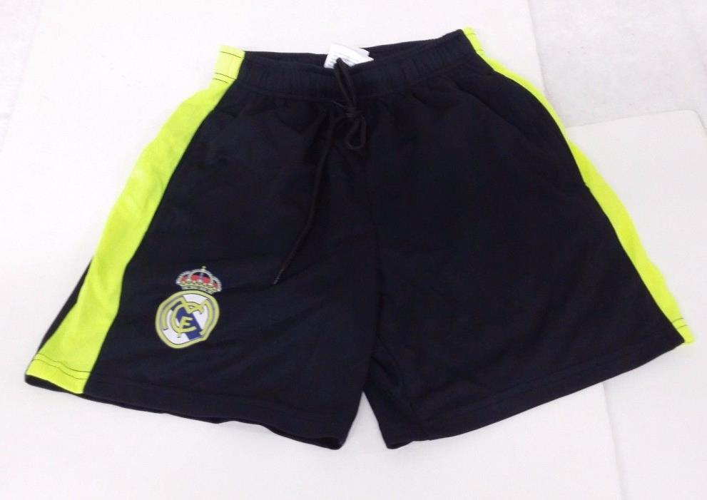 Real Madrid FC Black & Yellow Color Official Licensed Kid's Shorts