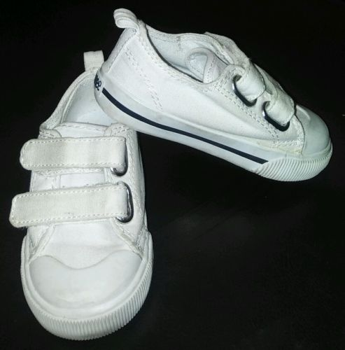Gymboree Infant Toddler Boys White Monkey Velcro Sneakers Shoes Size 6 EUC Cute!