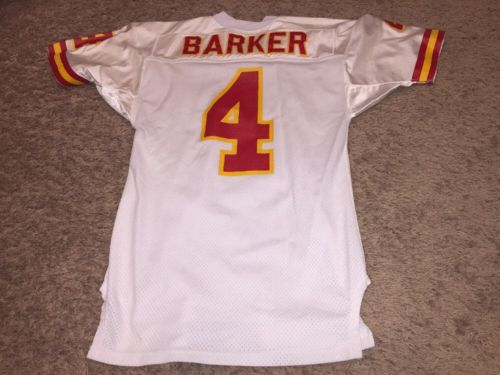 Bryan Barker Game Used Worn Kansas City Chiefs Jersey NFL