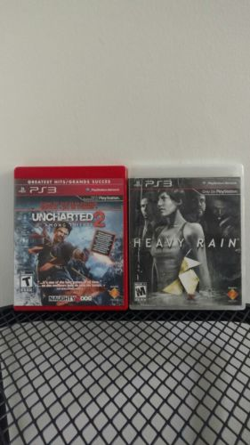 uncharted 2 & Heavy rain ps3 bundle