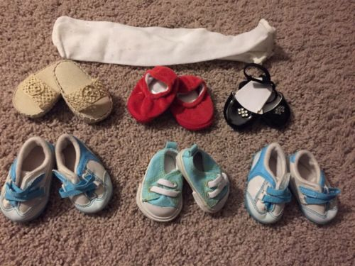 HUGE LOT of American Girl Bitty Baby Shoes And Stockings