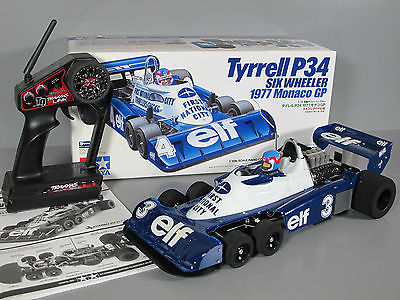 Tamiya 1/10 RC Tyrrell P34 F-1 1977 Six Wheeler #84263 F103 + Brushless System