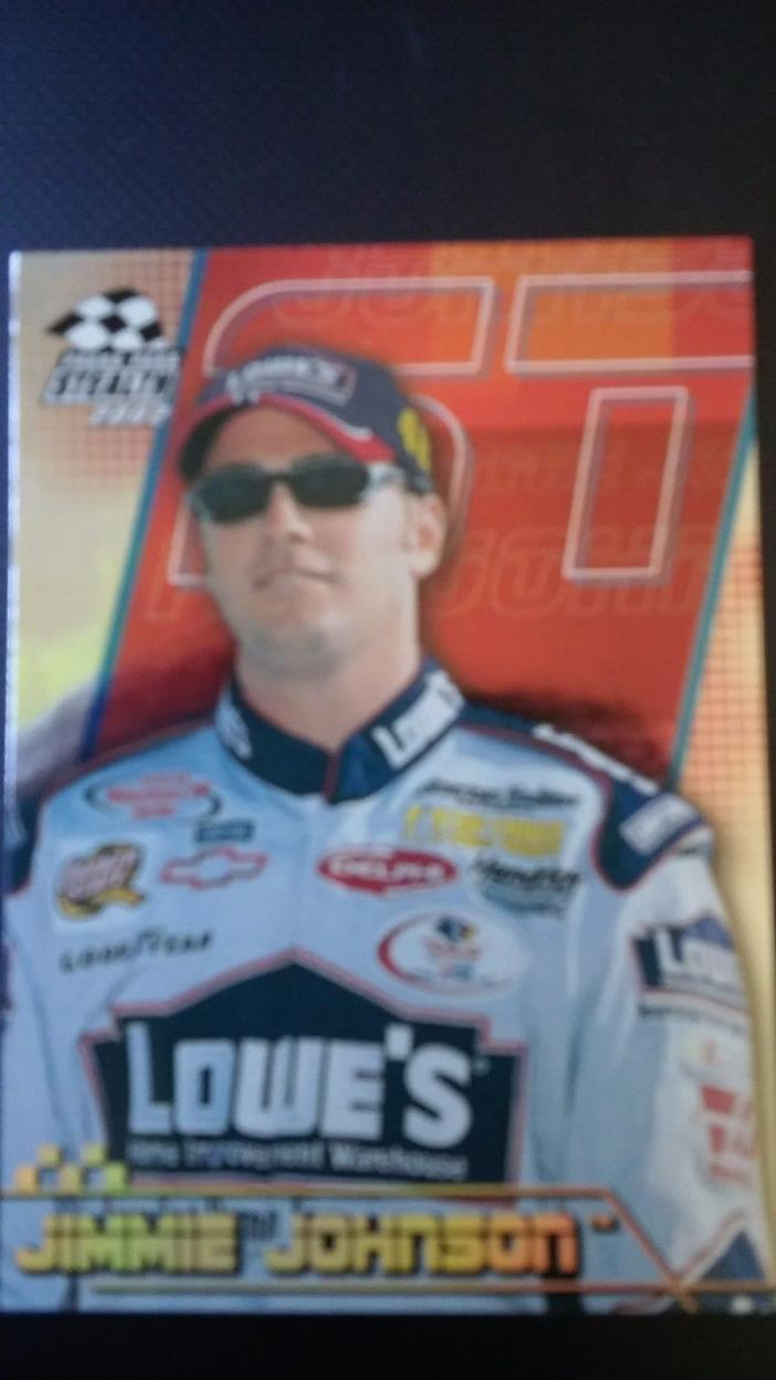 jimmie johnson 2002 Press Pass Stealth #P37 Gold racing card