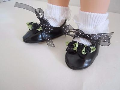 Black  SPECIALTY DOLL SHOES Chatty Cathy  FREE SHIPPING