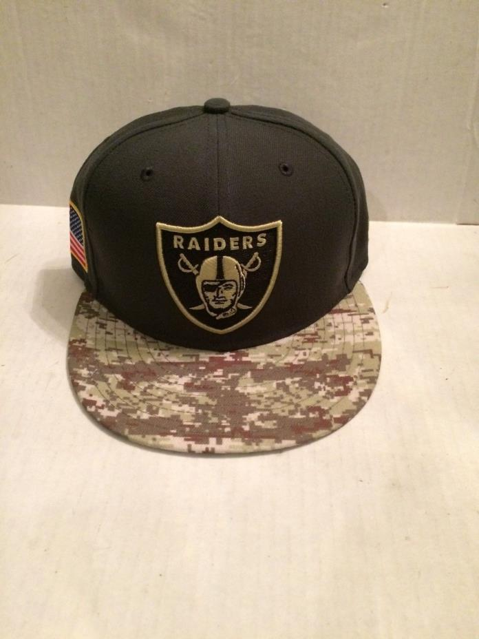Oakland Raiders New Era 59Fifty NFL 2016 Salute to Service Fitted Hat 7 NWT