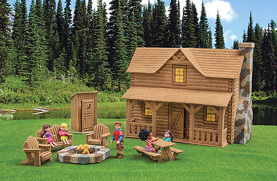Mary Maxim Log Cabin Plastic Canvas Kit