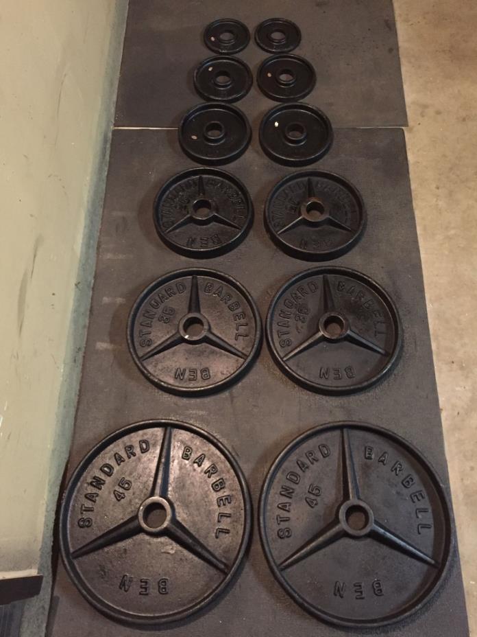 Ben Weider Vintage Deep Dish Olympic Weight Set