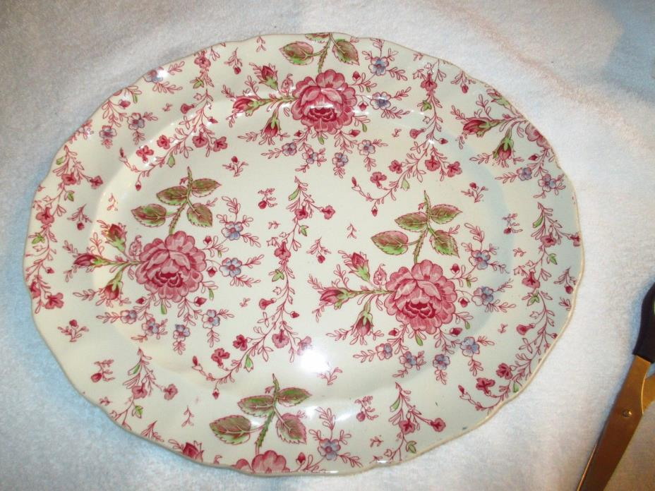 Johnson Bros England Rose Chintz Oval Serving Platter