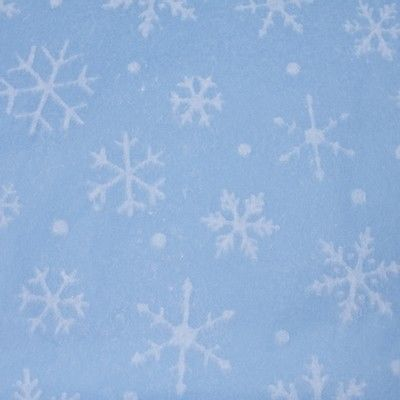 Delicate White Snowflakes on Light Blue Tissue Paper #801 … 10 Lg Sheets