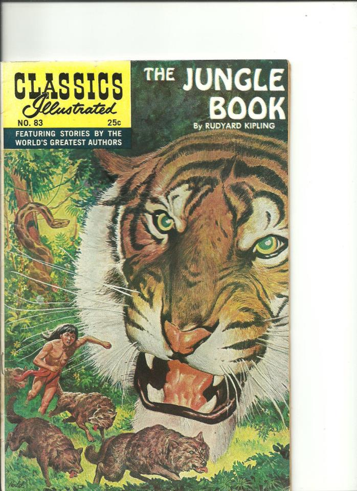 Classics Illustrated #83 - VG  : the Jungle Book by Rudyard Kipling