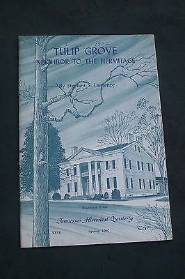 1967 Tulip Grove Plantation Neighbor to Hermitage Tennessee souvenir pamphlet