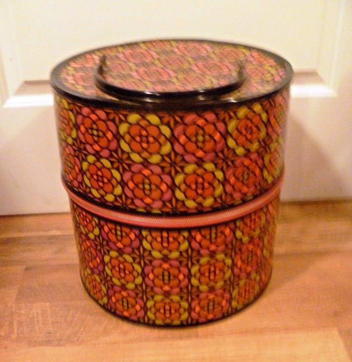 Vintage 1970s Cardboard Hat Wig Box