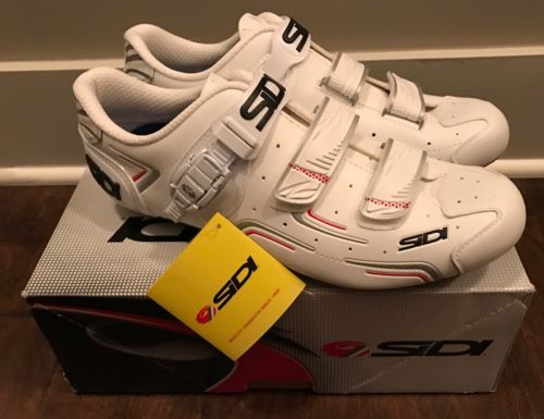 Sidi Men's Carbon Road Cycling Shoes White EUR 45.5/US 11 SRS-LVL-WHWH - NIB