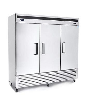 Atosa MBF8504 Three Door Stainless Steel Reach-In Freezer, Bottom Mount