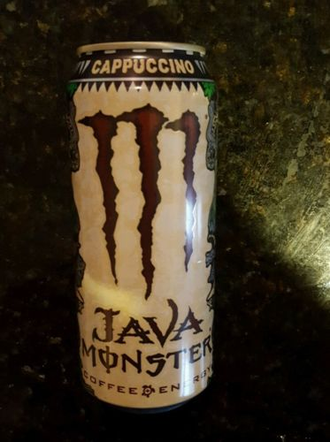 Monster Energy Drink Java Cappuccino RARE - Brand New Full Can Discontinued!