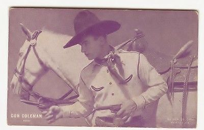 VINTAGE 1920s TWO  ORIGINAL DON COLEMAN MOVIE PHOTO CARDS;USA;