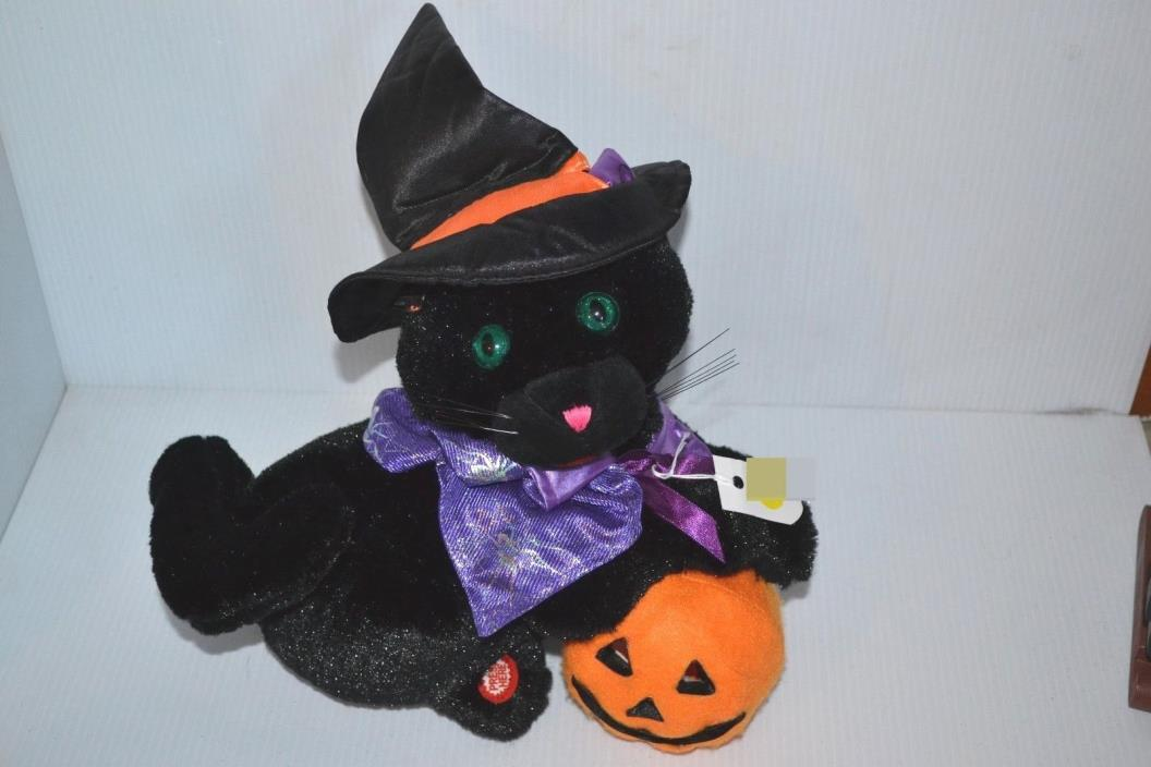 HAPPY CAT WITH PUMPKIN REQUIRES BATTERIES WORKS GREAT!!