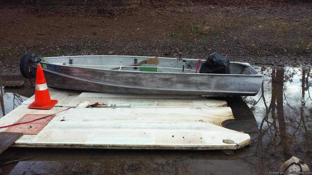 1990 14 FOOT DURACRAFT ALUM BOAT W/4 HP