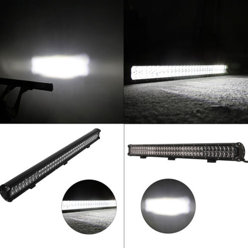 390W LED WORD LIGHT BAR SPOT FLOOD BEAM OFFROAD DRIVING LAMP SUV ATV 6500K OSRAM