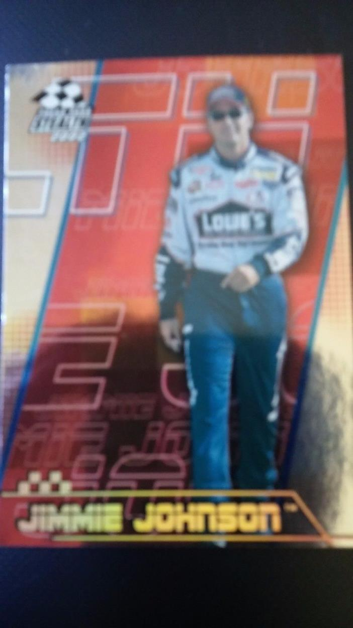 jimmie johnson 2002 Press Pass Stealth #P39 Gold racing card