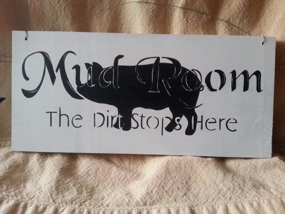 french cottage pig sign mudroom sign plaque hog decor farm animals kitchen sign
