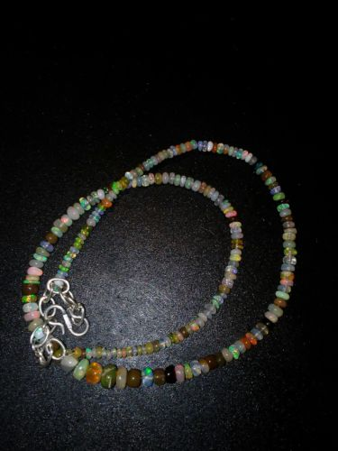 43ctw Gemstone Welo Opal Necklace 2 to6mm 16