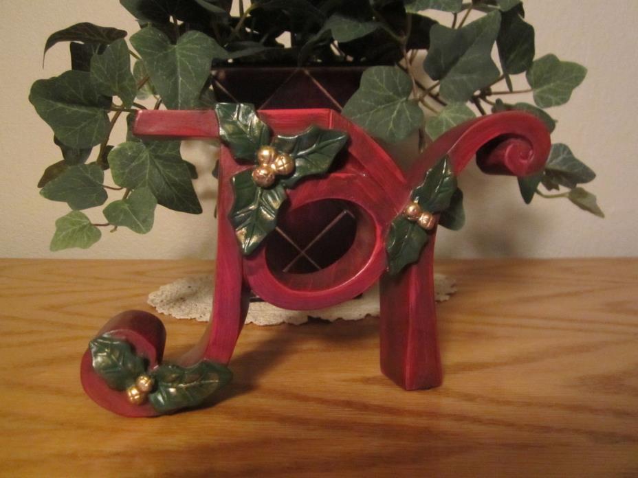 Christmas JOY Decoration Shelf Sitter
