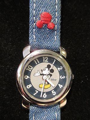 Disney Mickey Mouse watch, blue denim strap, new battery