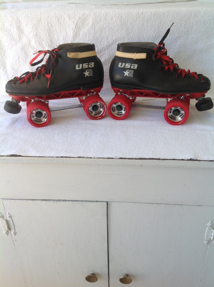 vintage riedell 122 roller skates womens size 8.5