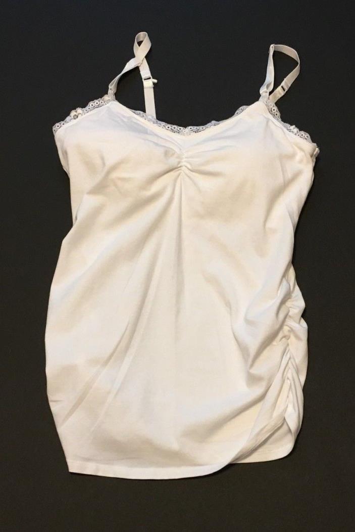 Jessica Simpson Nursing Top Size M Medium White Tank Top Lace Career Casual Work