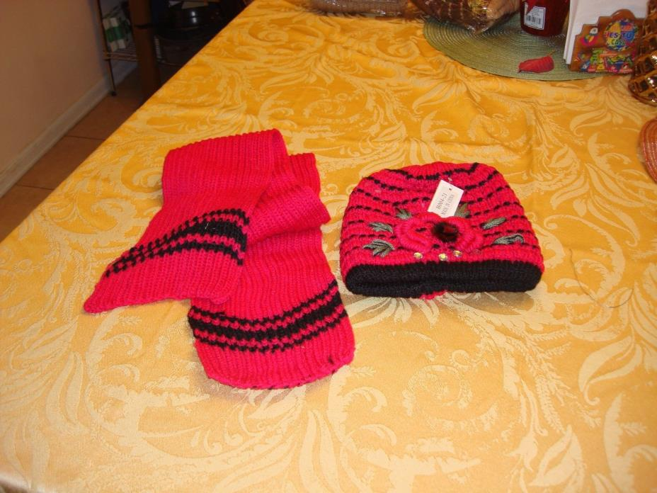 New Women s Scarf and Hat Set