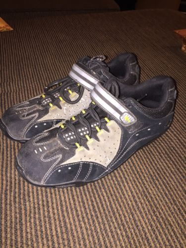 Specialized TAHO ATB Men's Cycling Shoes 4 Bolt Suede Black Beige Size US 10.5
