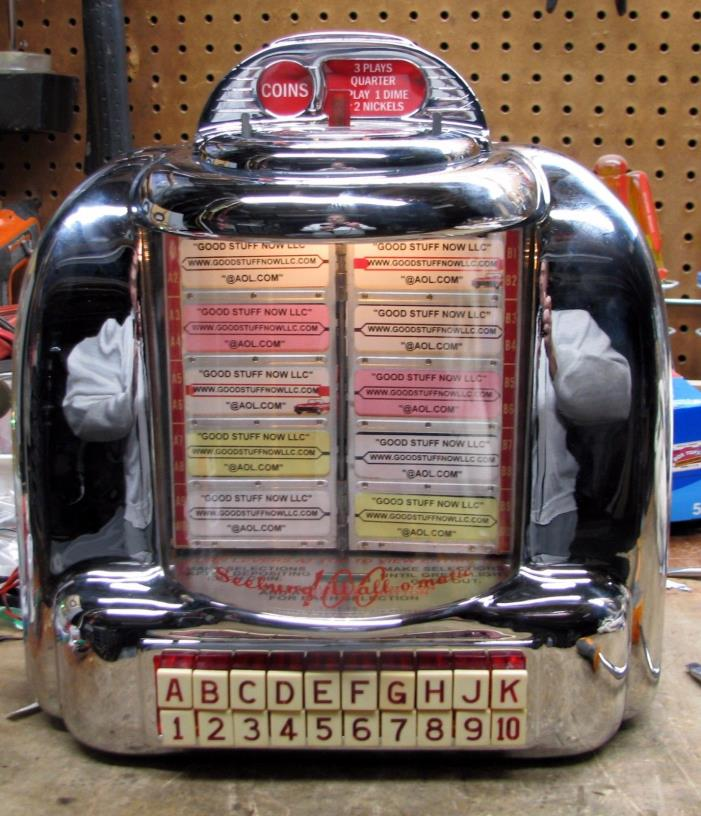 SEEBURG 3W1 JUKEBOX WALLBOX RESTORED, RECHROMED  - STOCK #5075