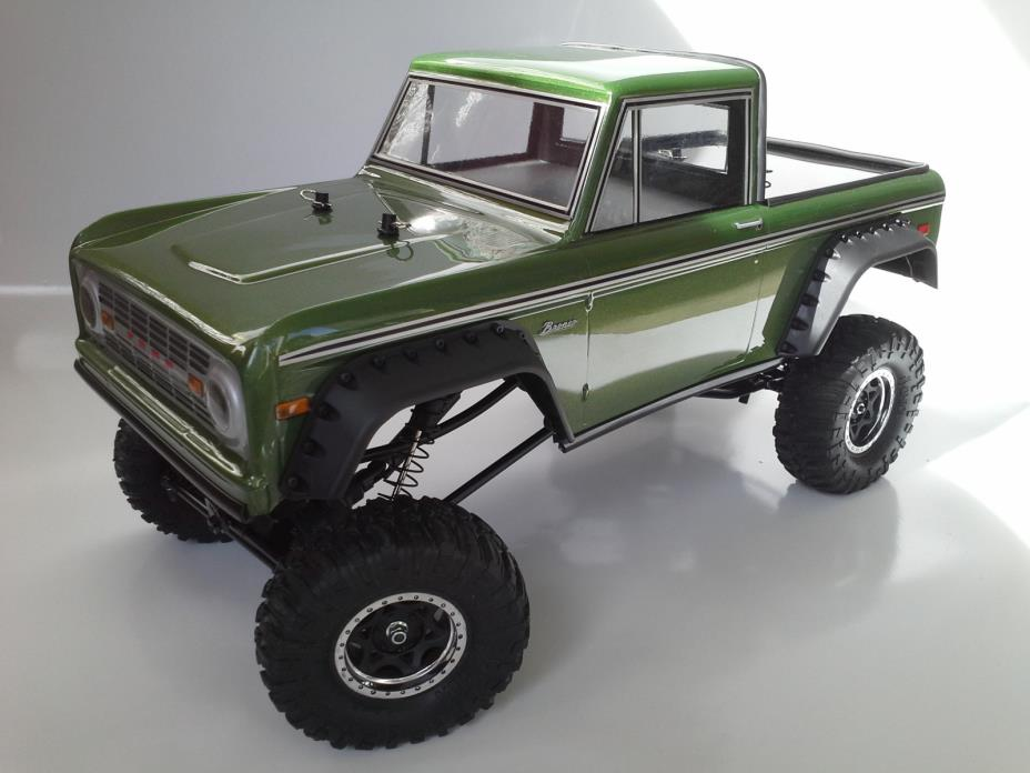 1/10 REDCAT EVEREST RTR PROLINE 1973 FORD BRONCO HALFCAB OLIVE METALLIC .AXIAL.