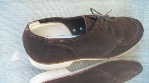 Vintage Men's Hyde Brown Suede Bowling Shoes Made in the USA  Sz. 9