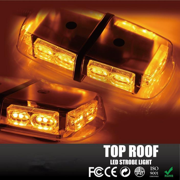 36 LEDs Light Bar Roof Top Emergency Beacon Warning Flash Strobe Yellow Amber ZN