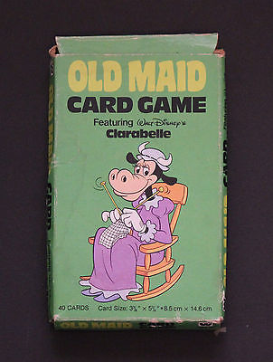 Old Maid Card Game Featuring Walt Disney's Clarabelle - 1981 Whitman