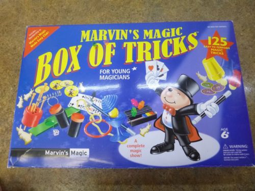 Marvin's Magic Box of Tricks (125 tricks), + bonus trick and magician's manual