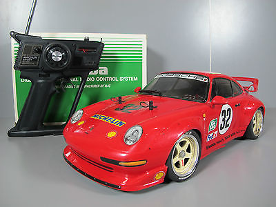 Custom Decal Tamiya 1/10 RC Porsche 911 GT2 TA02SW Futaba ESC upgrade