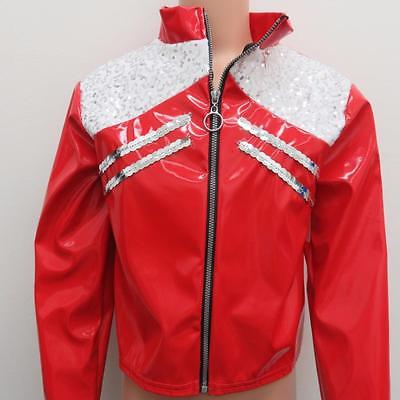 Dance Costume Small Child Michael Jackson Jacket Red Solo Competition Pageant