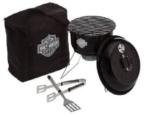 Harley Davidson 1 Person Barbeque Grill for Camping Road Trips New