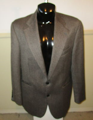 Men's CHAPS by Ralph Lauren Brown 100% Wool Blazer Suit Jacket Size 42R