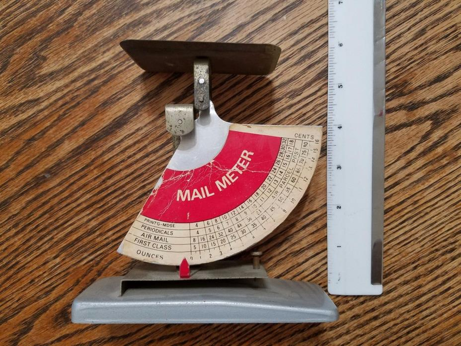 Vintage post office mail meter scale