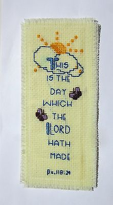 Finished Cross Stitch Bookmark