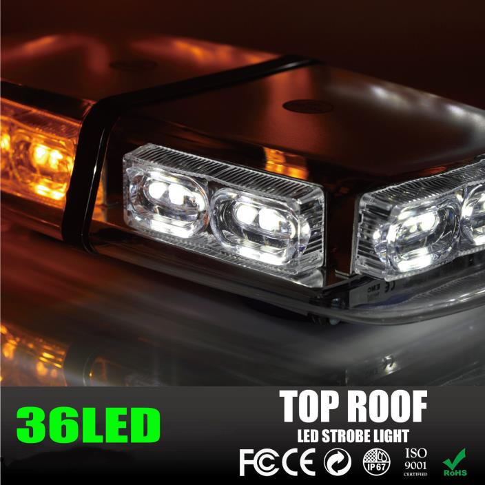 Amber Yellow 240 LEDs Light Bar Roof Top Emergency Beacon Warning Flash Strob ZN